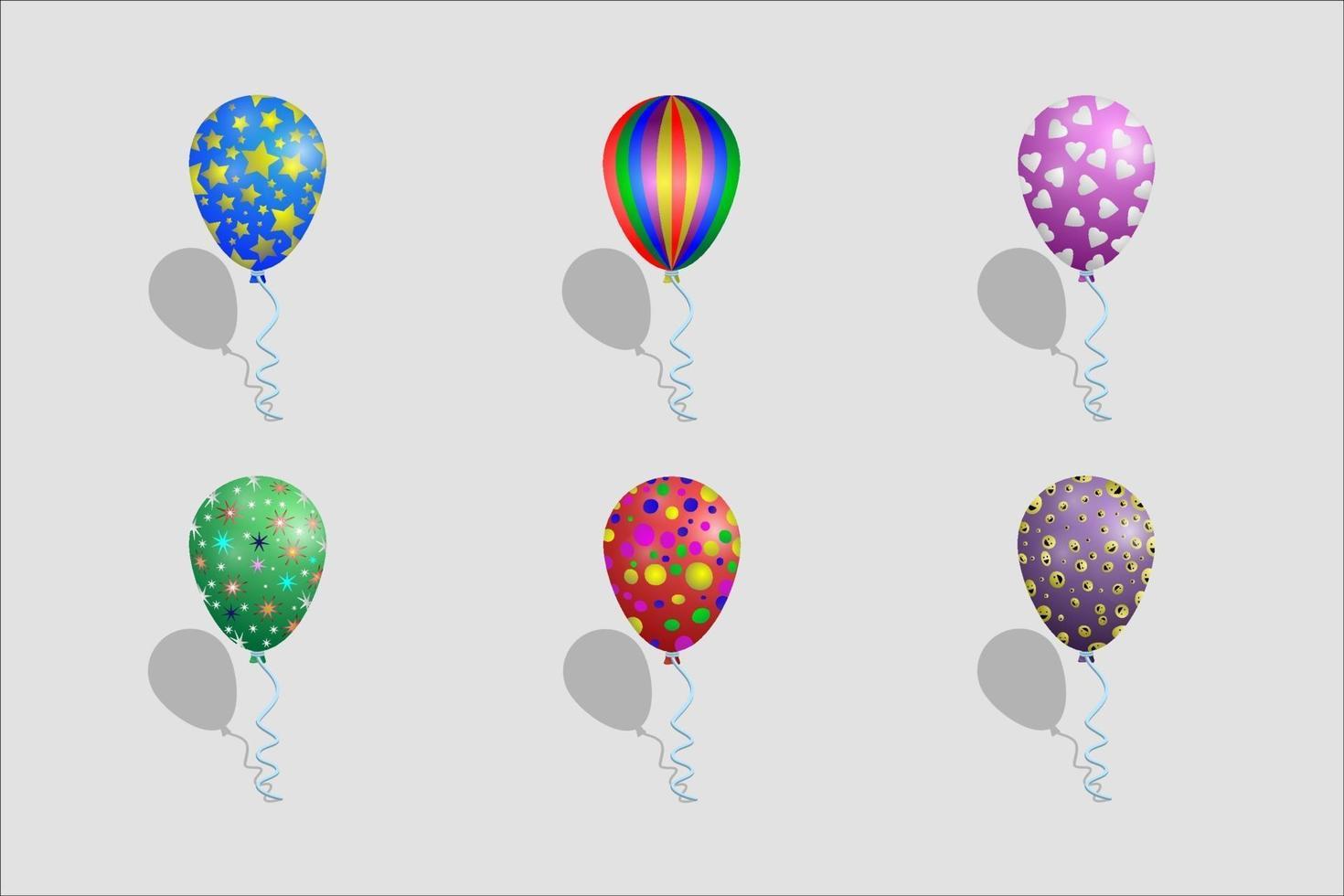 Luftballons mit verschiedenen Mustern vektor