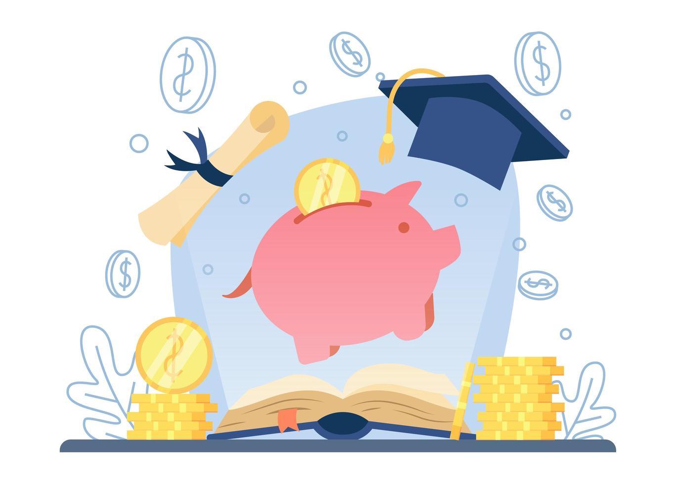 Investition in das Bildungskonzept vektor
