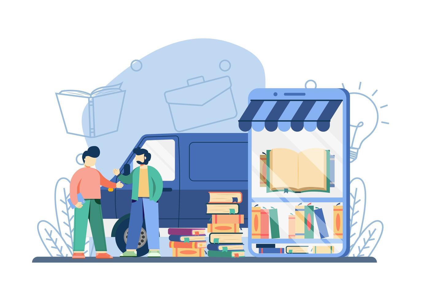 digitales Buchhandlungskonzept vektor