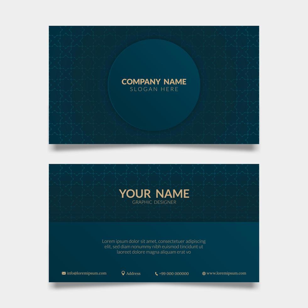 Geschäfts-, Firmen- oder Organisationskarte in blau vektor