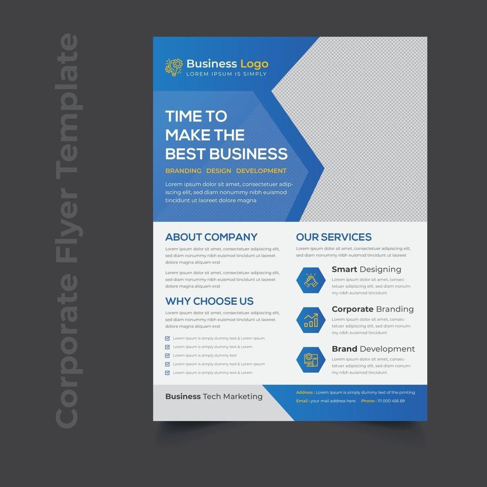 kreative Corporate Service Werbeflyer Vorlage vektor