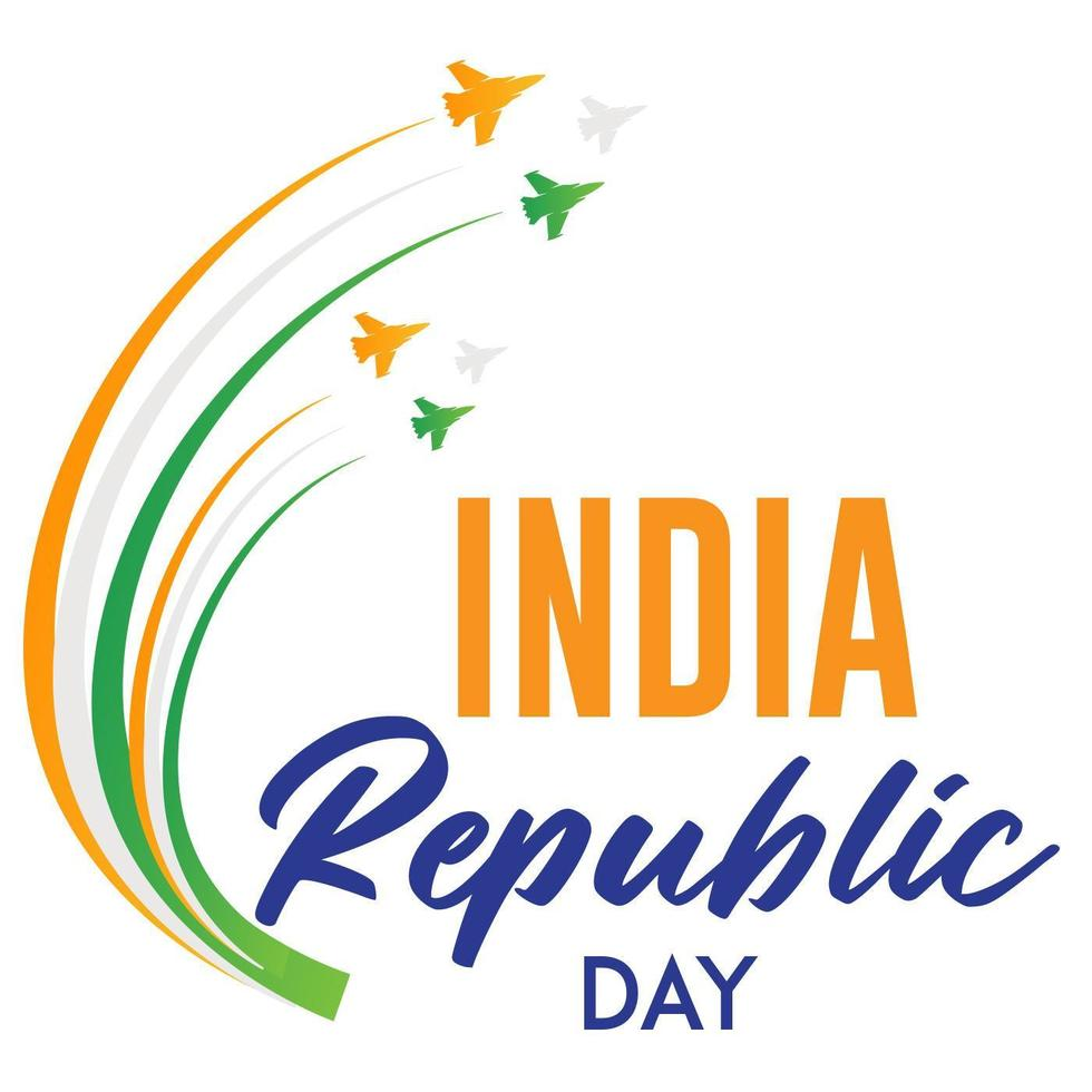 Indien Republik Tag am 26. Januar Tapete vektor
