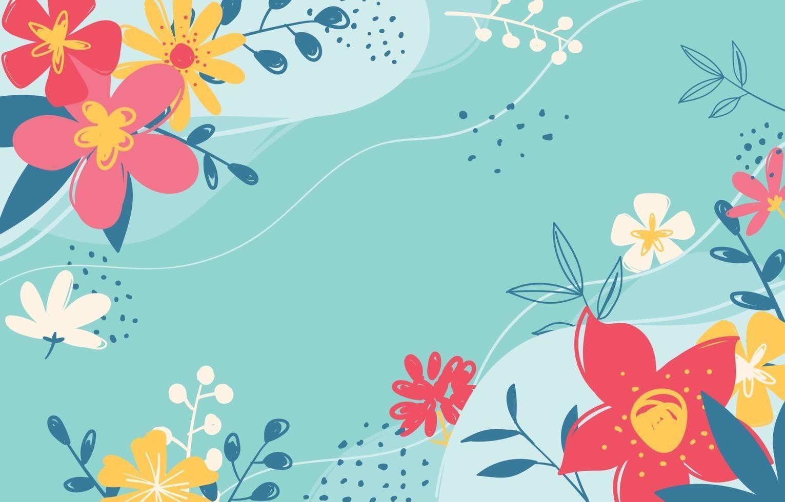 blommig vårbakgrund vektor