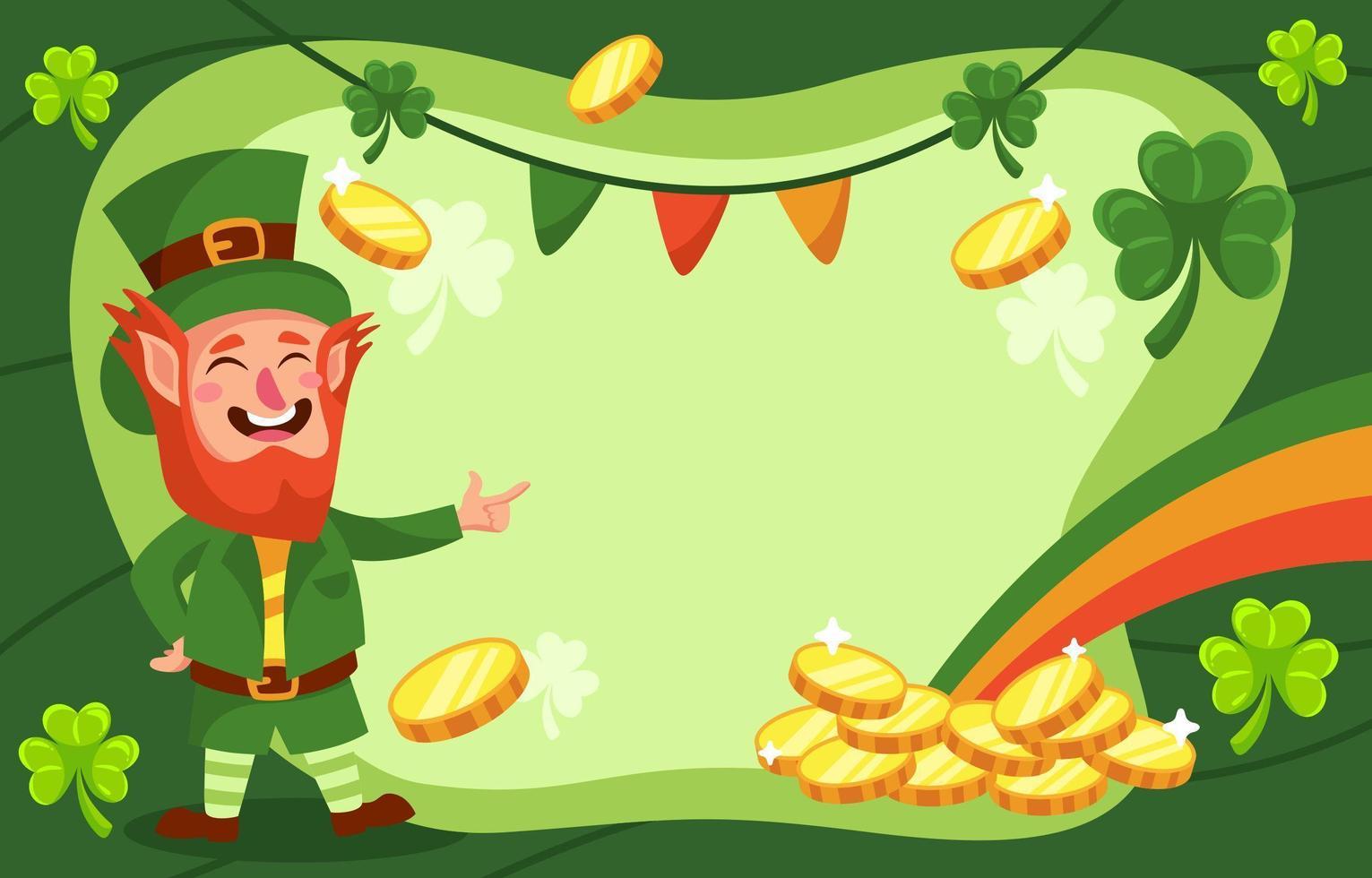St. Patricks Day Kobold Hintergrund vektor