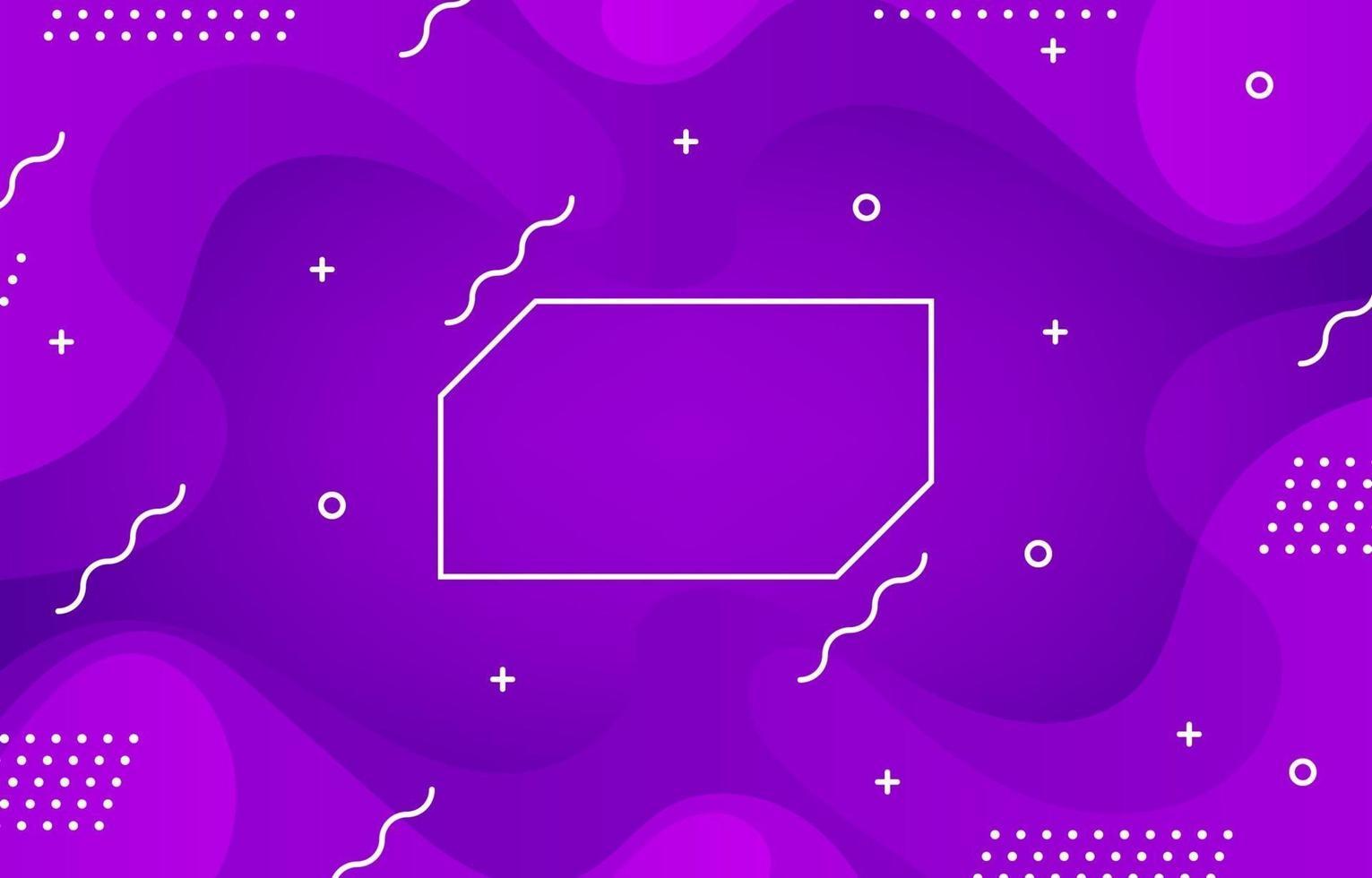 geometrischer lila Wellenhintergrund vektor