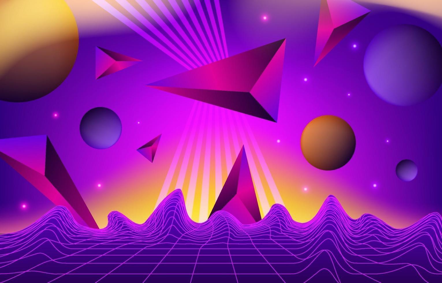 abstrakt retro futurism vektor