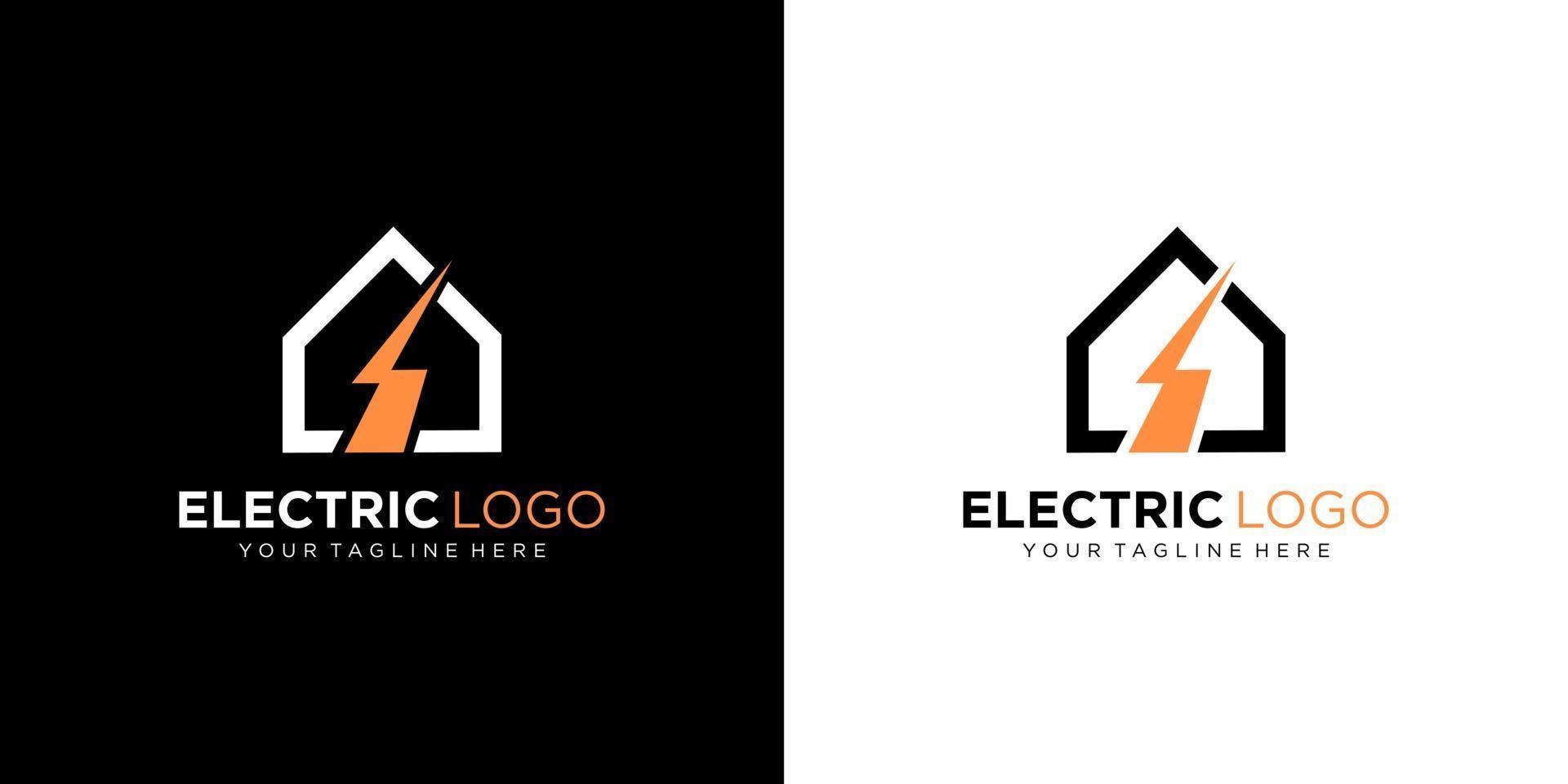 elektrisk logotyp formgivningsmall vektor