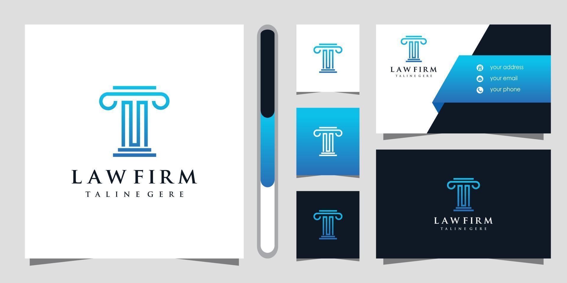 advokatbyrå logo design och visitkort vektor