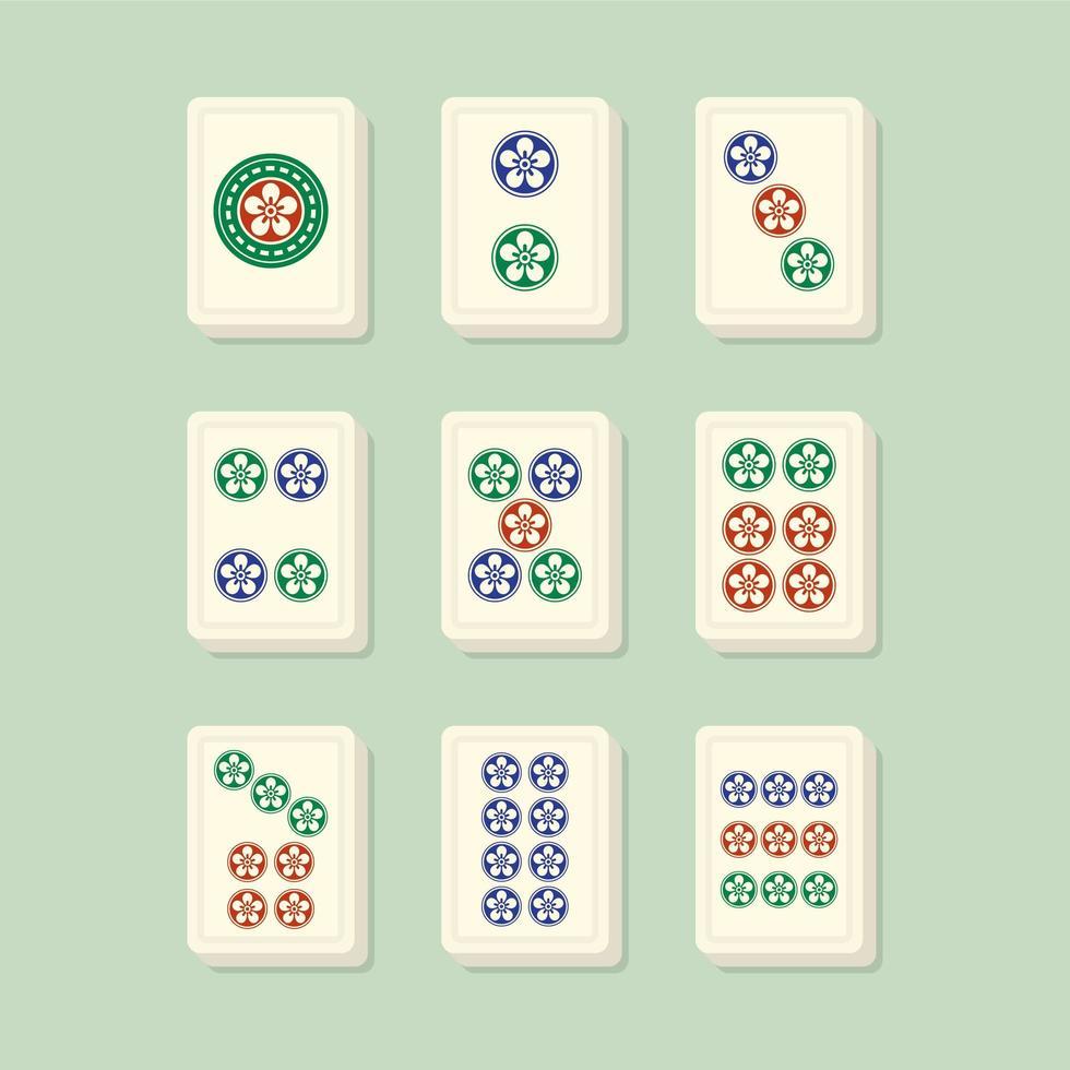 mahjong passar prickar vektor