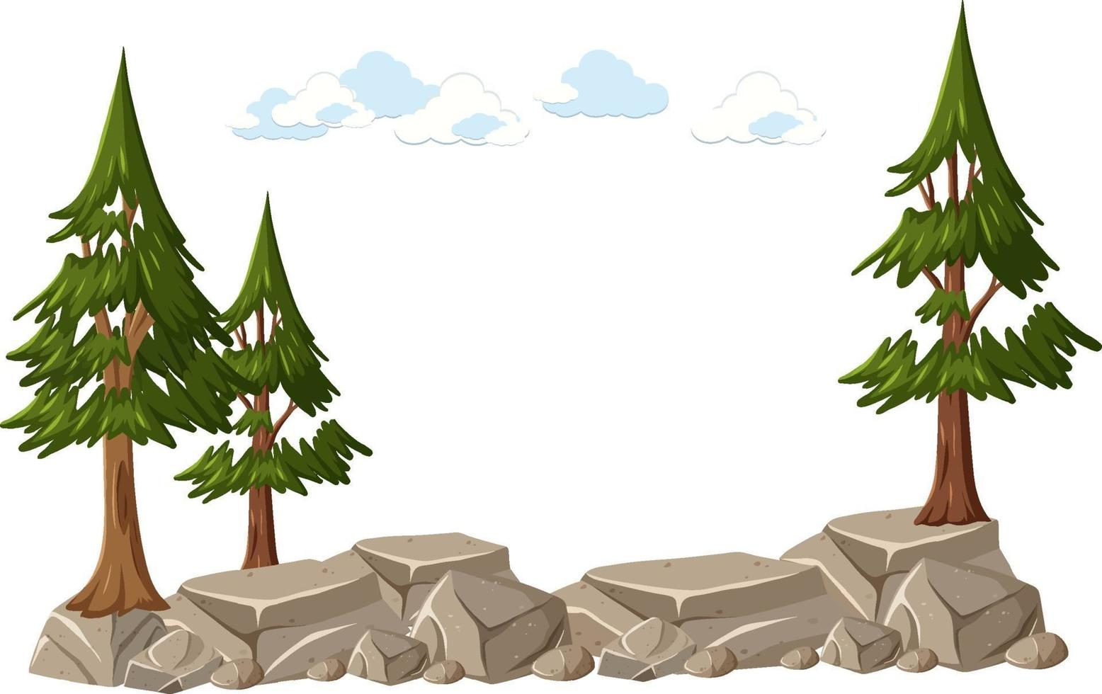 isolerat träd på vit bakgrund vektor