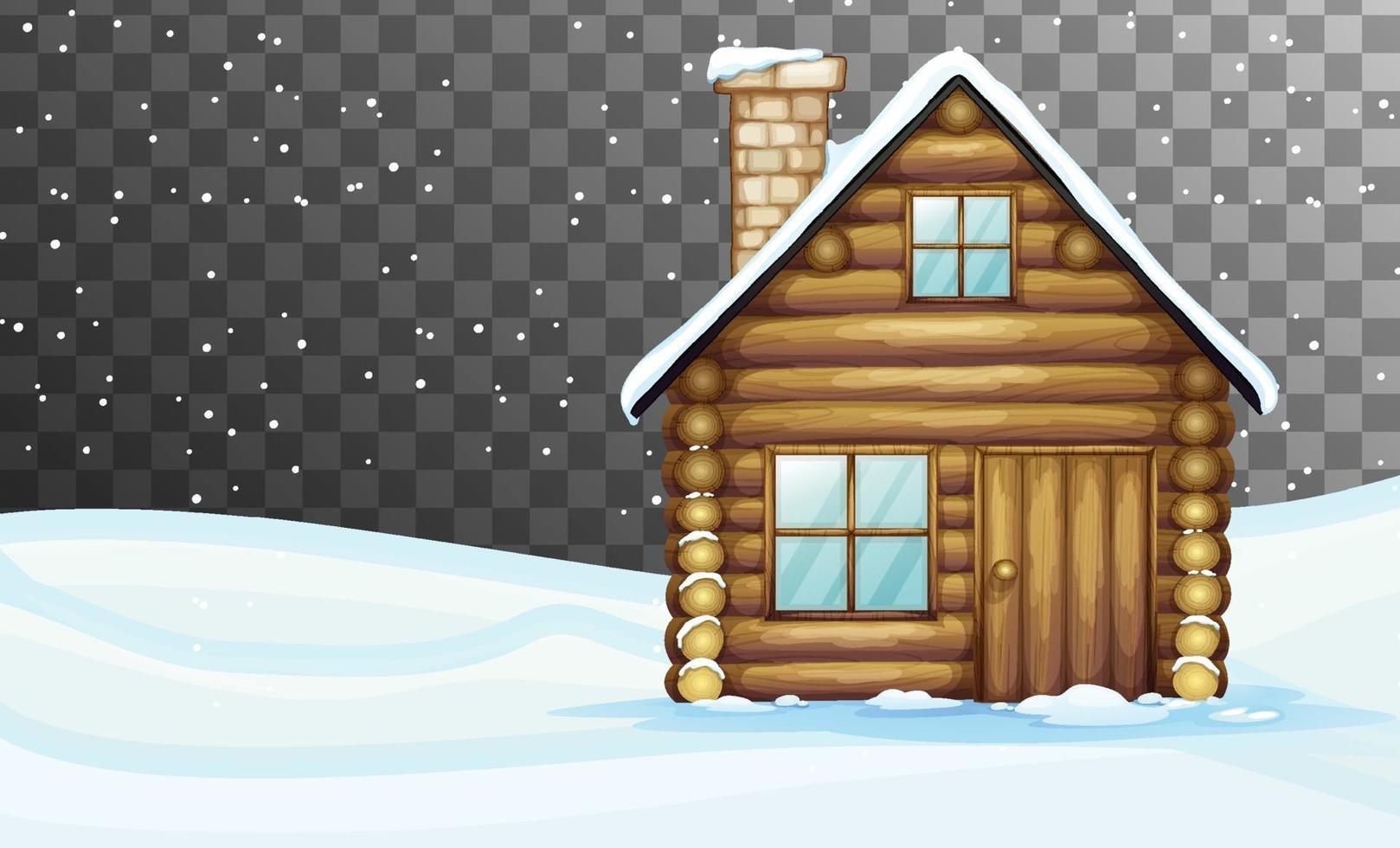 Naturszene im Wintersaisonthema mit transparentem Hintergrund vektor