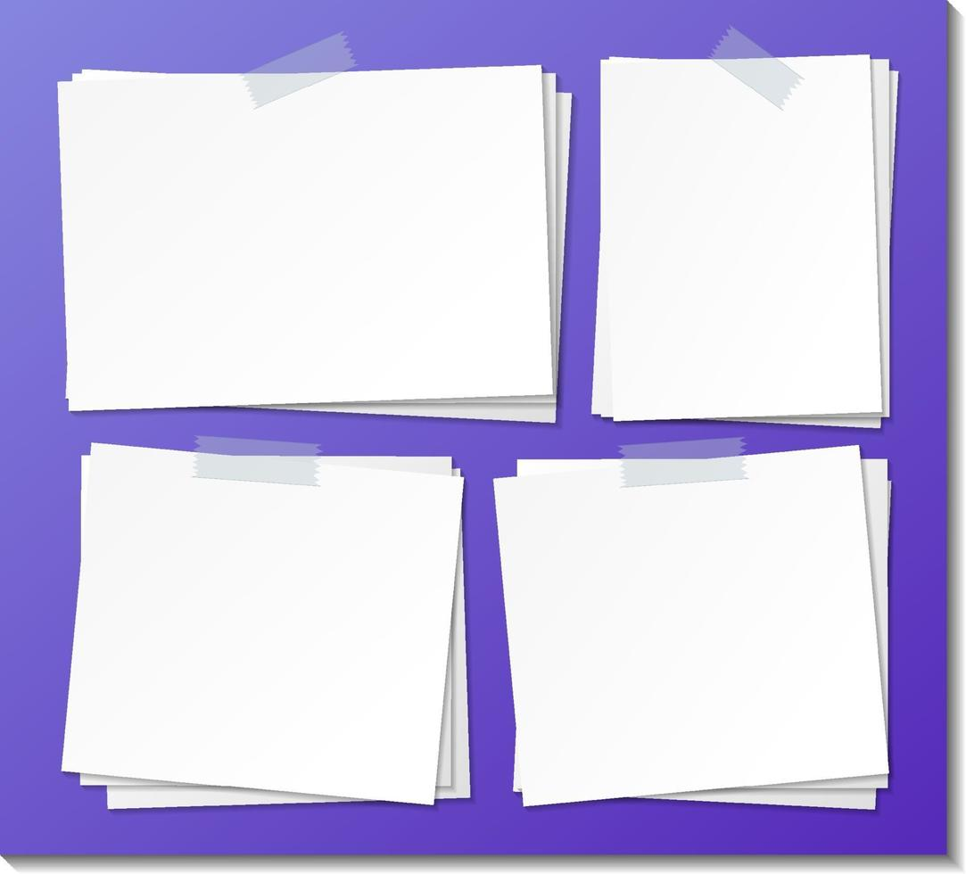 uppsättning av tomma pappersmall vektor