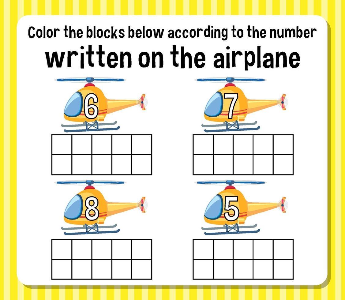 matematikantalet kalkylblad vektor