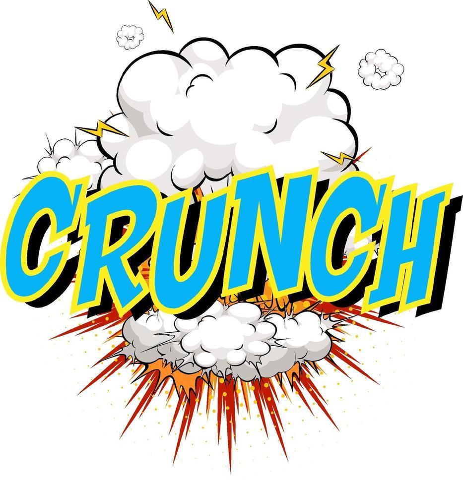 word crunch på komisk moln explosion bakgrund vektor