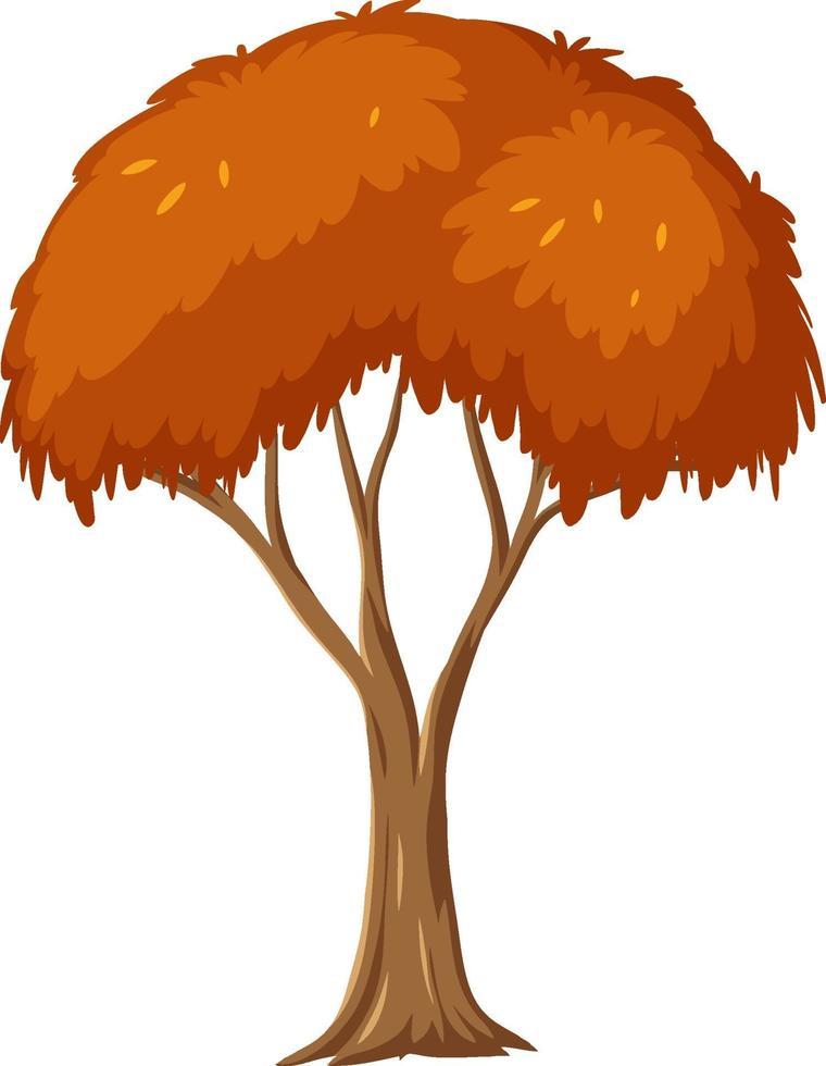 isolerat höstträd på vit bakgrund vektor