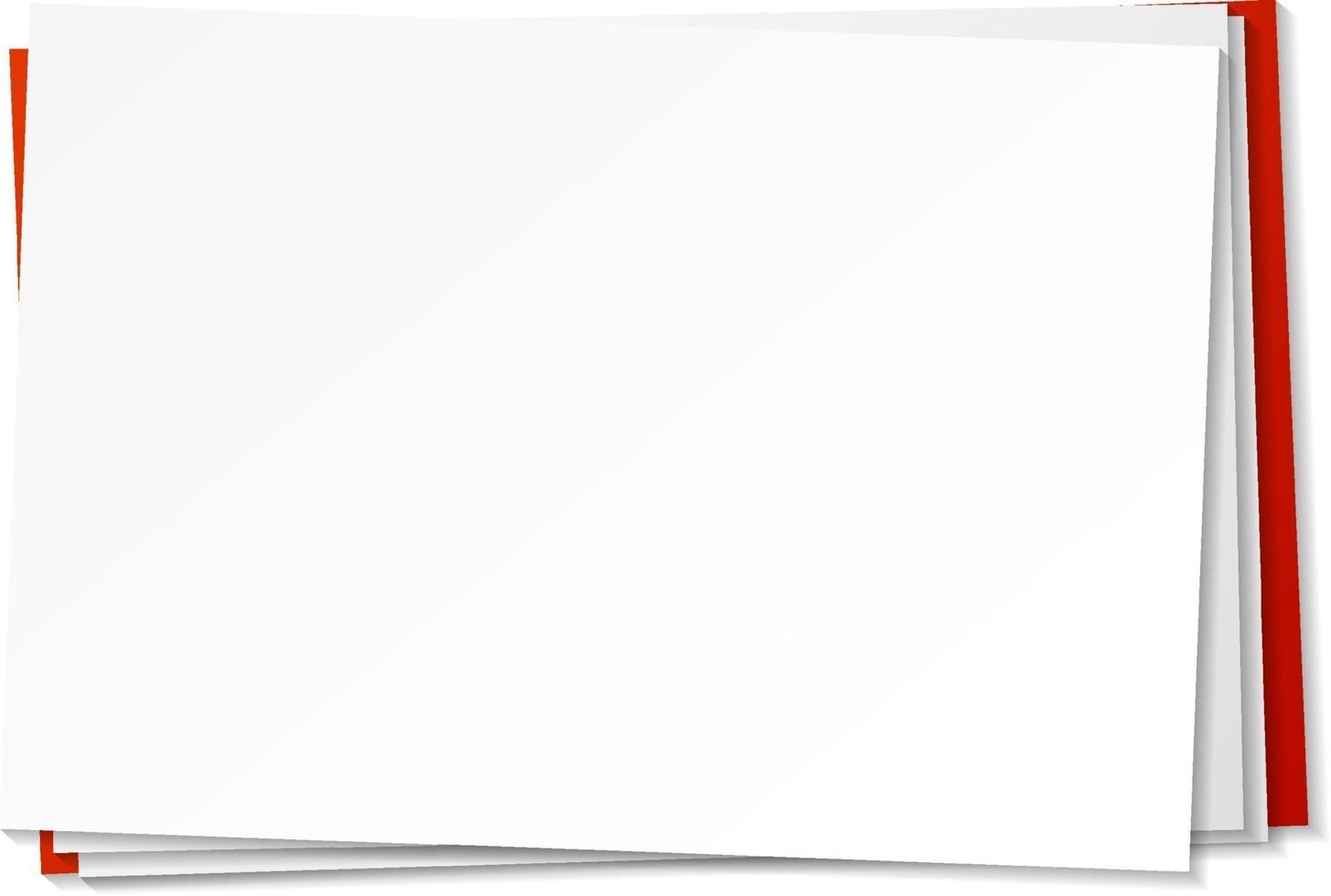blank pappersmall på vit bakgrund vektor