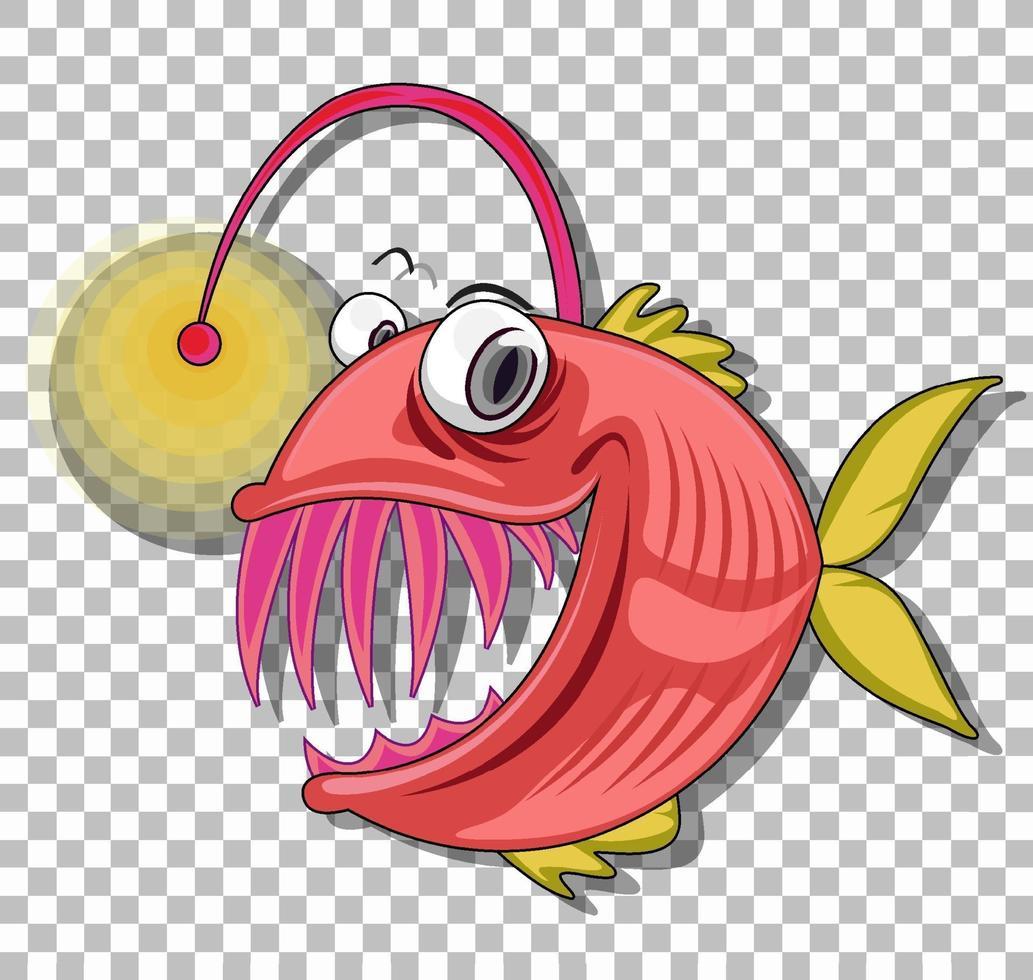 sportfiskare seriefiguren isolerad på transparent bakgrund vektor