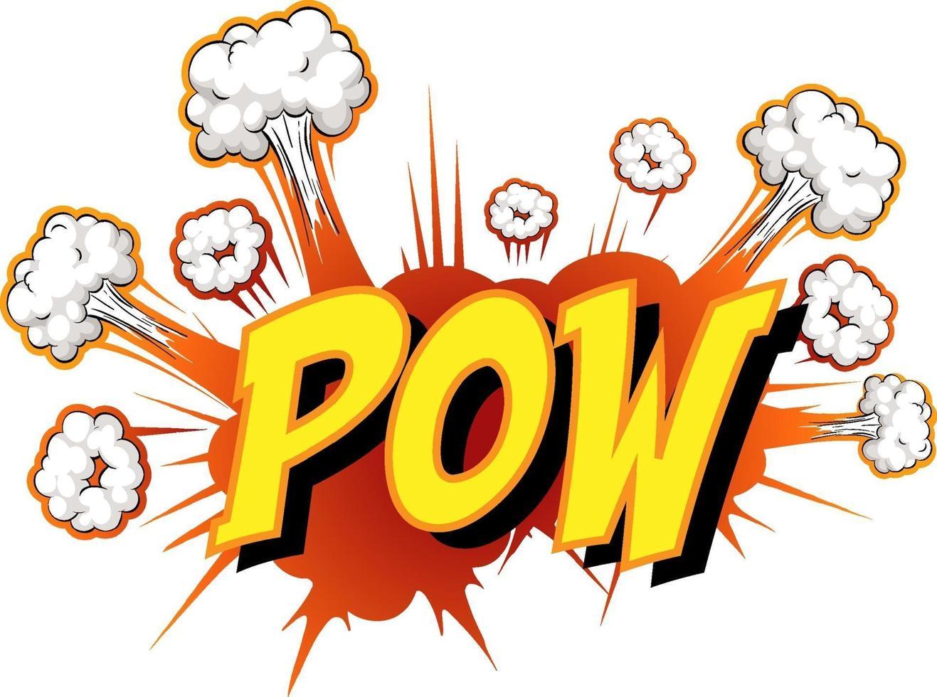 Comic-Sprechblase mit Pow-Text vektor