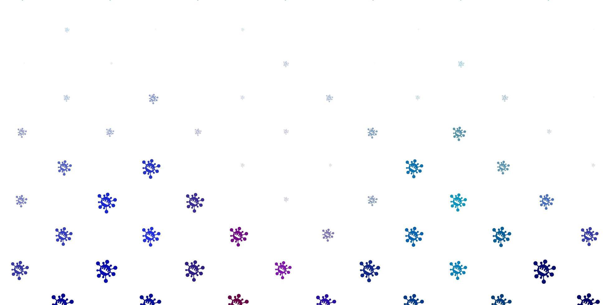hellblaue, rote Vektorbeschaffenheit mit Krankheitssymbolen. vektor