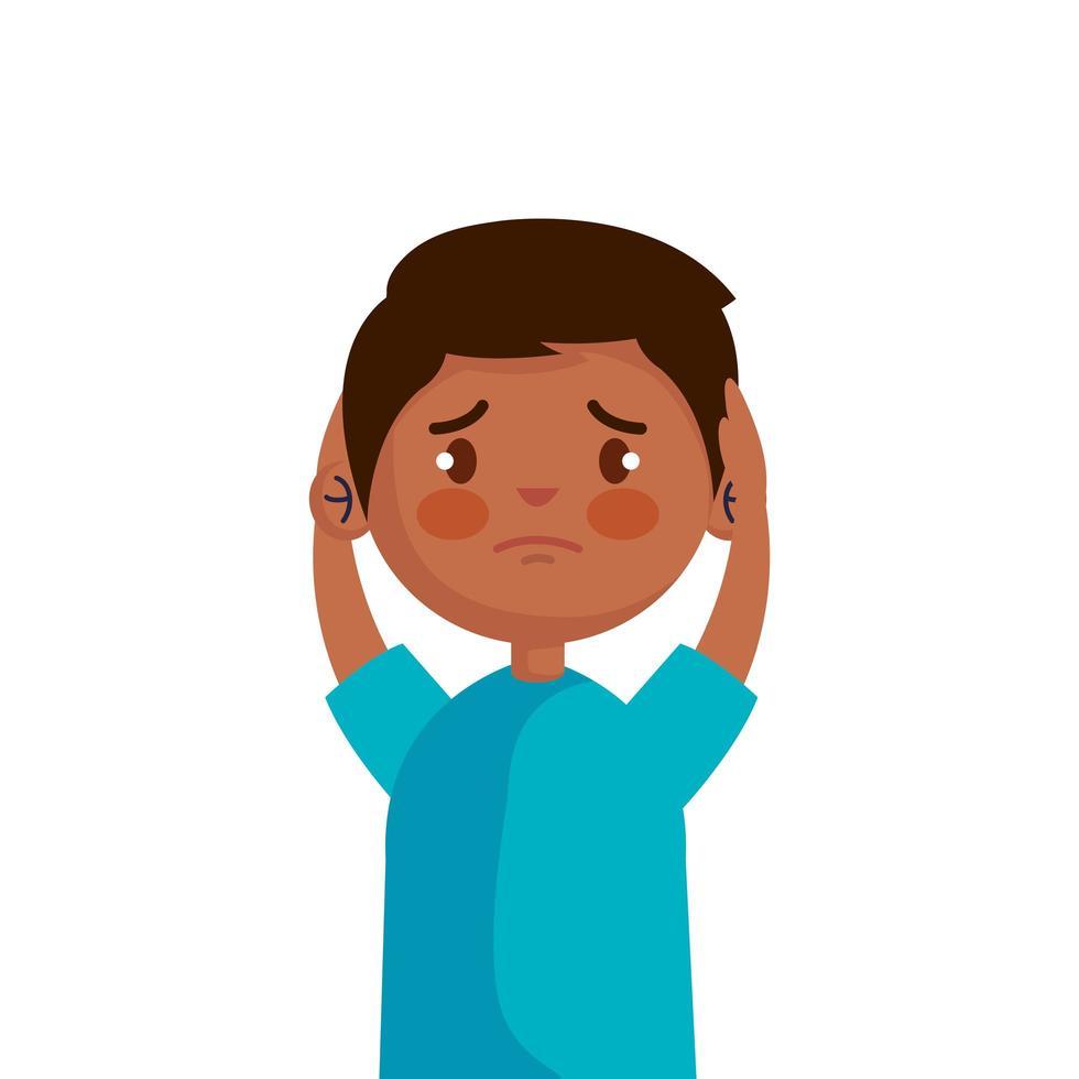 Stoppen Sie Mobbing und traurigen Jungen Kind Vektor-Design vektor