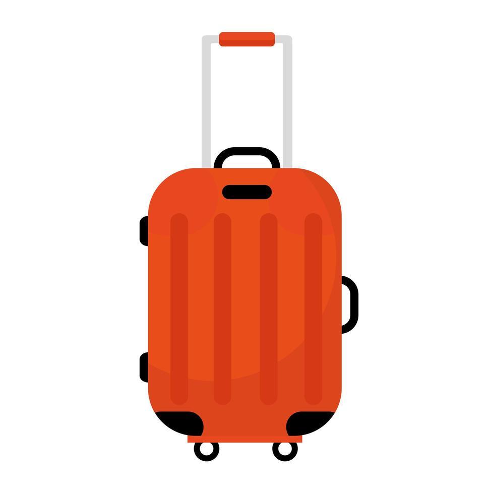 resväska resa med hjul isolerad stilikon vektor