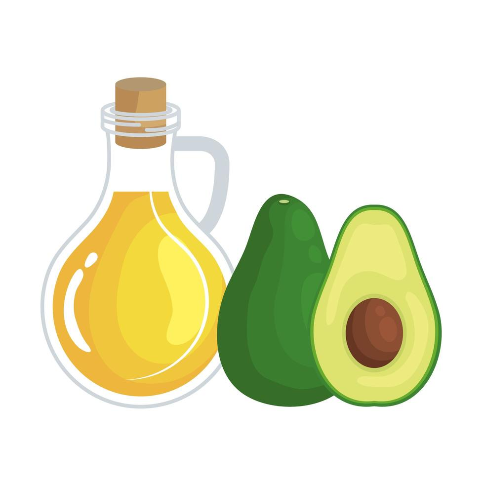 färsk avokado och olivoliv hälsosam mat vektor