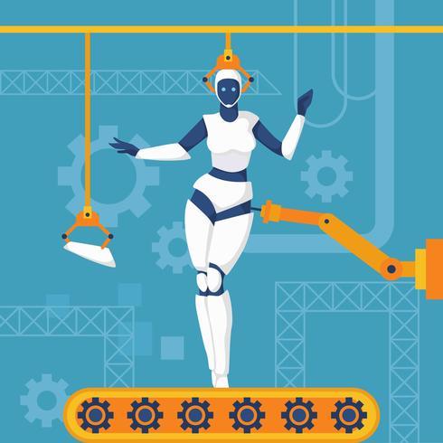 Ai Roboter-Vektor-Illustration vektor