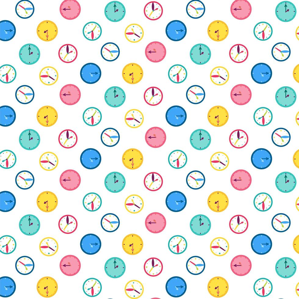 väggklocka vektor sömlösa mönster