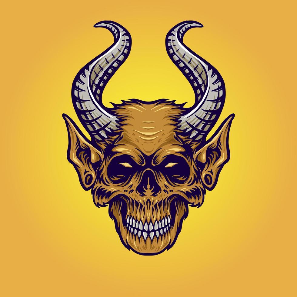 monsterhorn apa illustration vektor