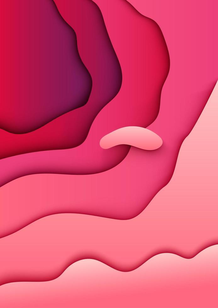 abstrakter Papierschnitt rosa Hintergrund vektor