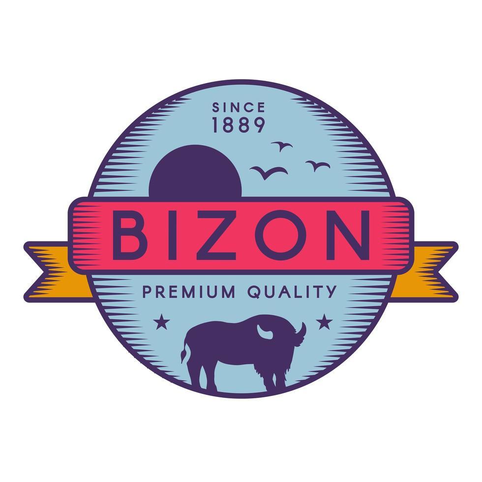 bizon vektor logotyp mall