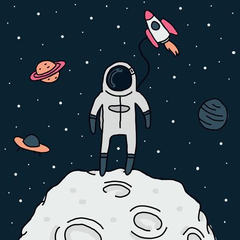 kosmonaut kille vektor