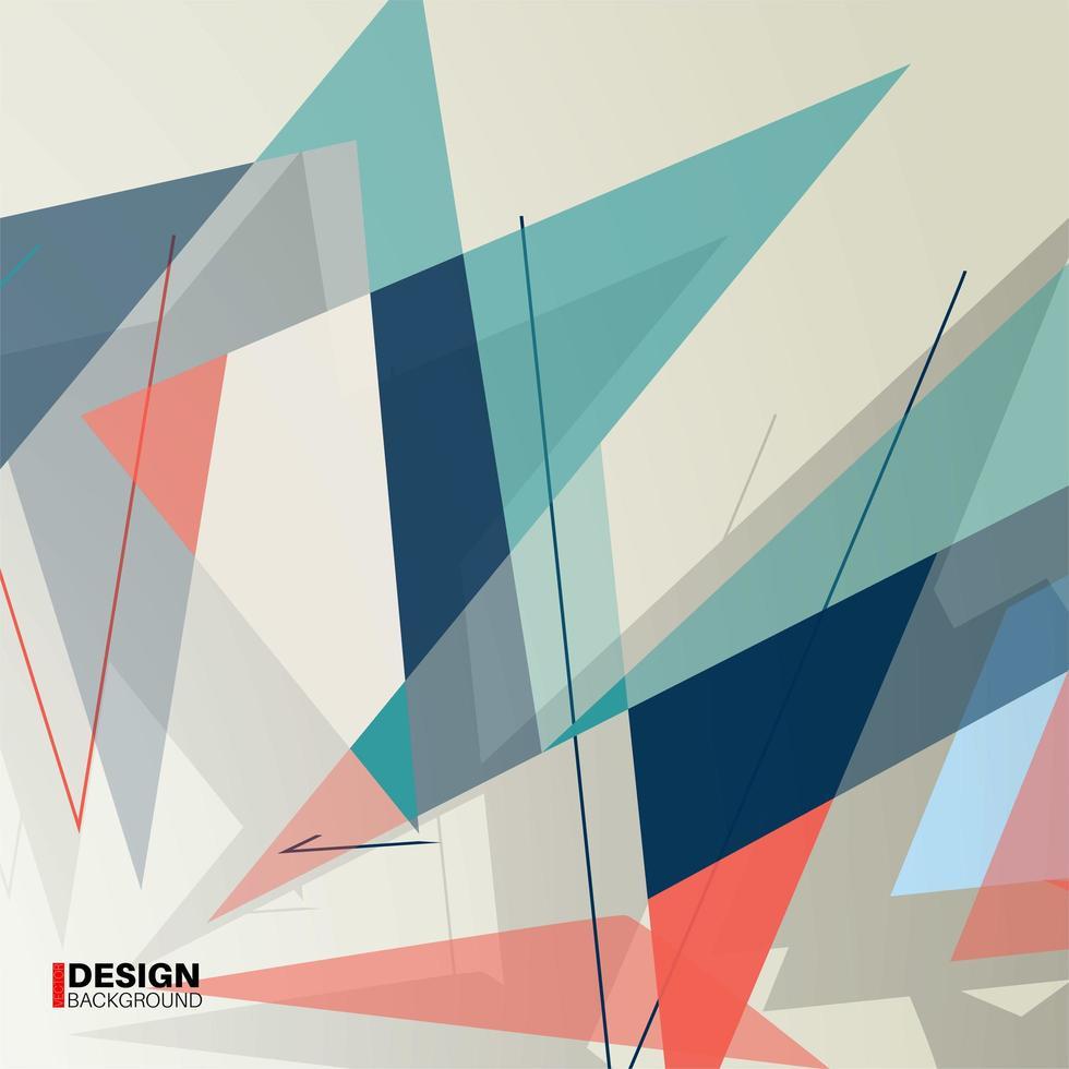 geometrisk abstrakt bakgrund. överlappning av moderna former vektor