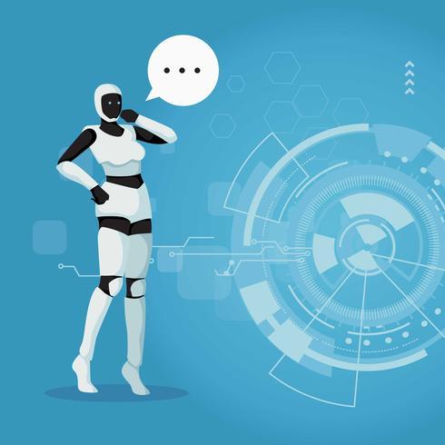 Ai Roboter Vektor Illsutration