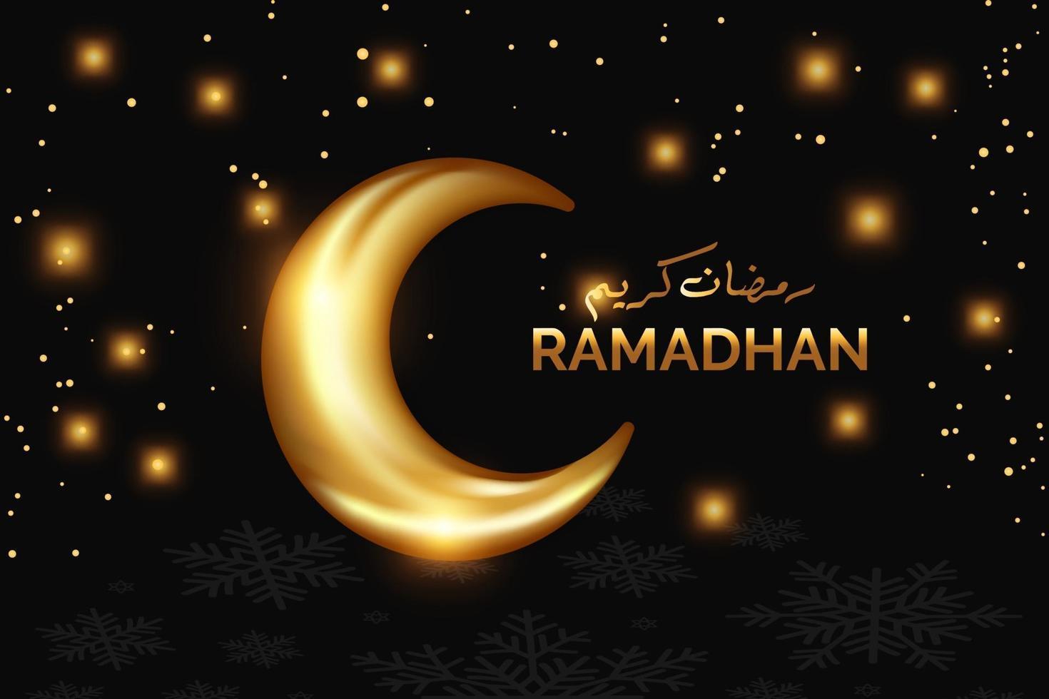 realistisches Mond-Ramadhan-Konzept vektor