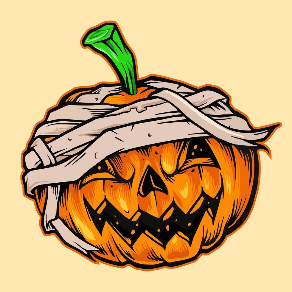 Halloween Kürbis Maskottchen vektor