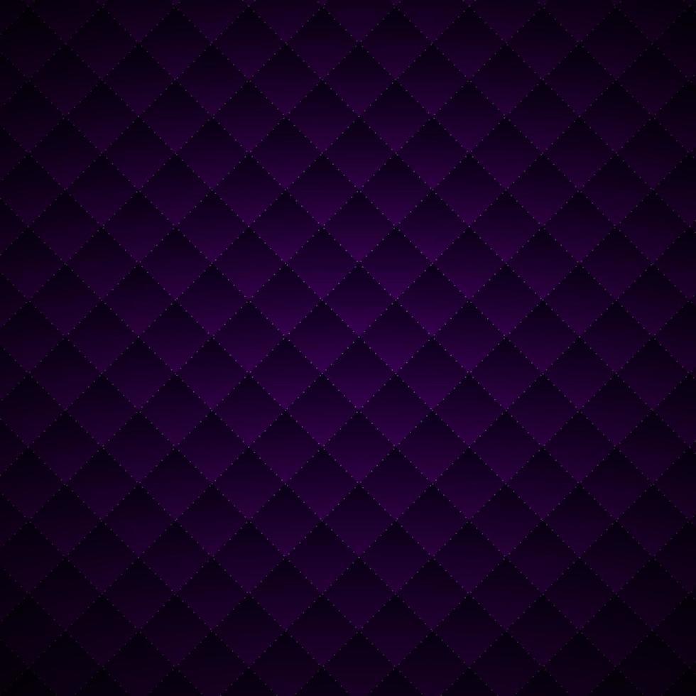 abstrakt lyxstil lila geometriska rutor mönster design med prickar linjer rutnät på mörk bakgrund och konsistens. vektor
