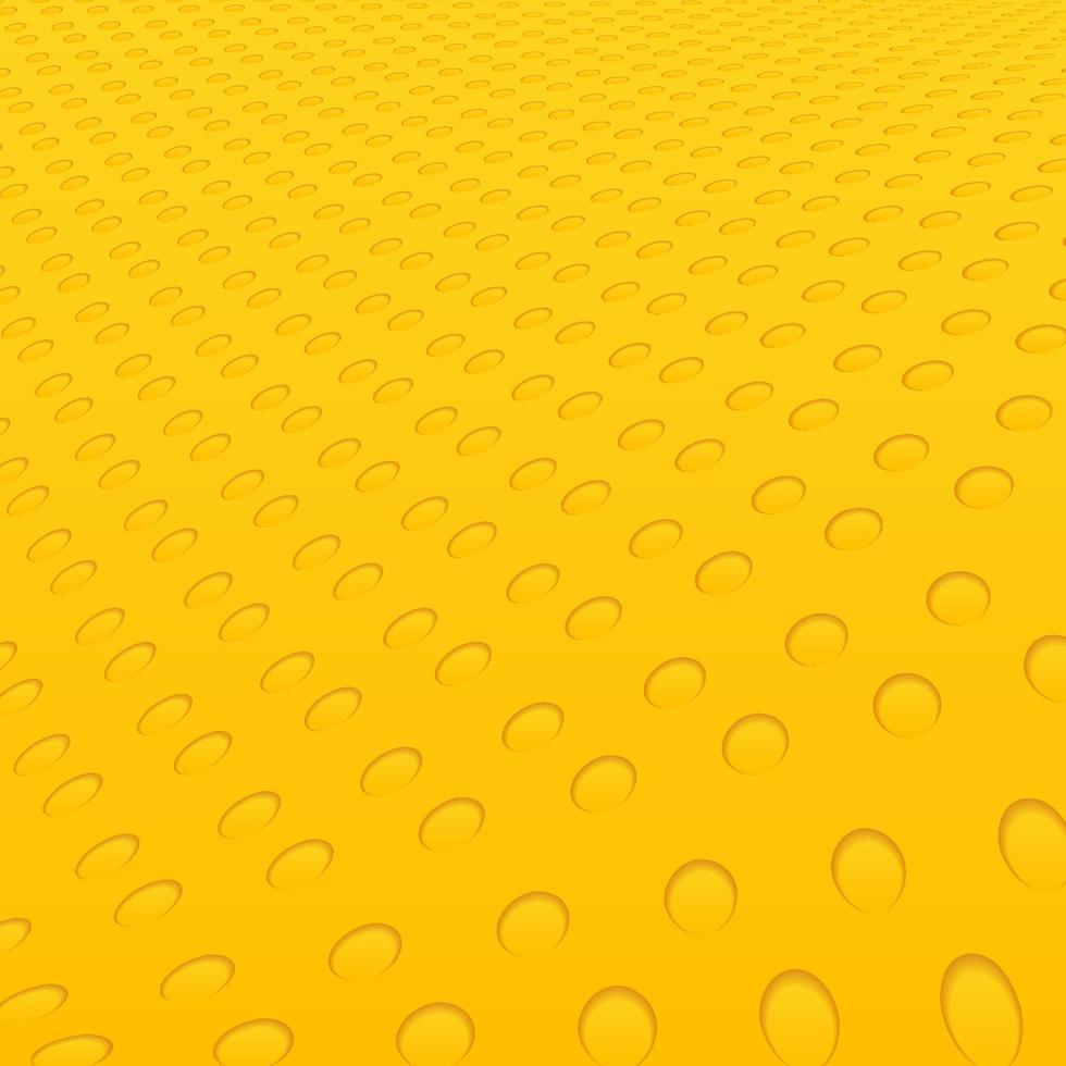 abstrakt gula cirklar geometriska hål mönster våg bakgrund och textur. vektor