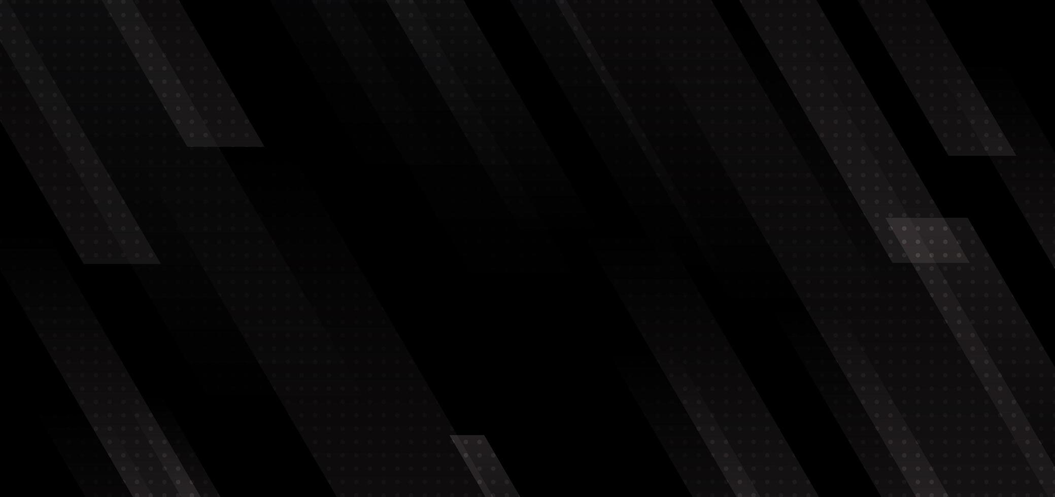 abstrakte moderne schwarze Streifen geometrische diagonale Linien auf dunklem Hintergrund. vektor