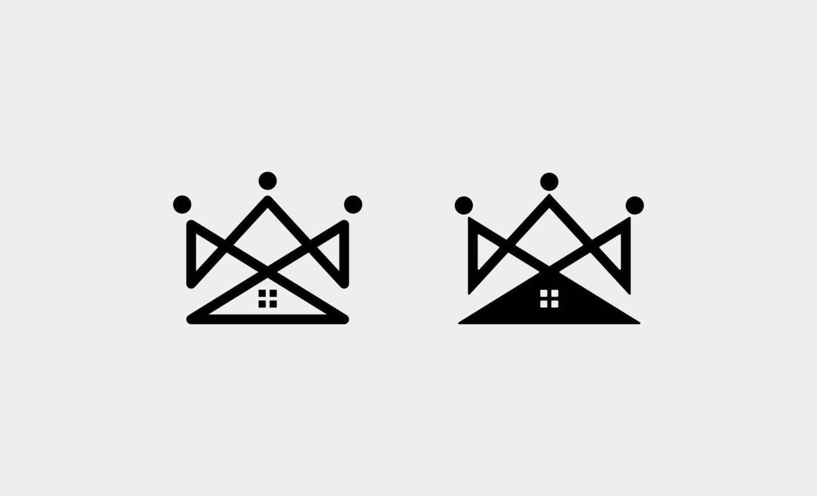 hem kung kunglig logo design vektorillustration vektor