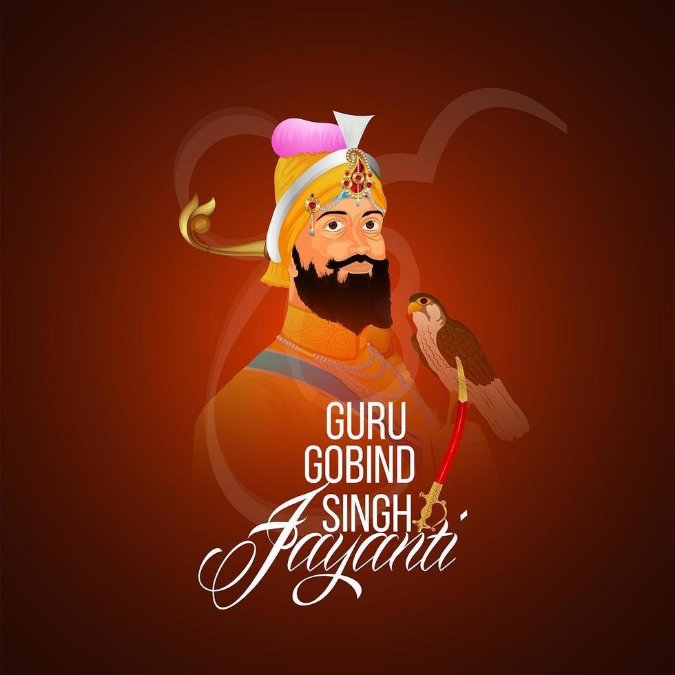Glücklicher Guru Gobind Singh Jayanti Feier vektor