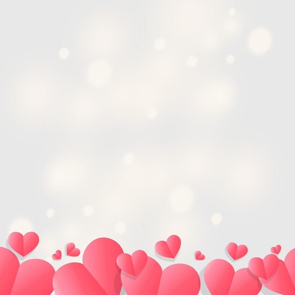glad Alla hjärtans dag sbstrakt bokeh ljus bakgrund vektor