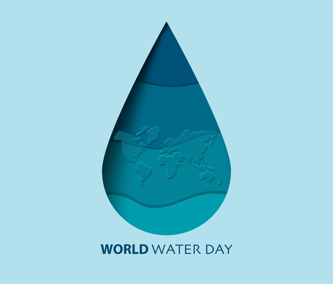 världens vattendag bakgrundsvektor vektor