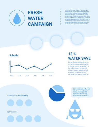 Utestående Clean Water Advocacy Infographic Template vektor