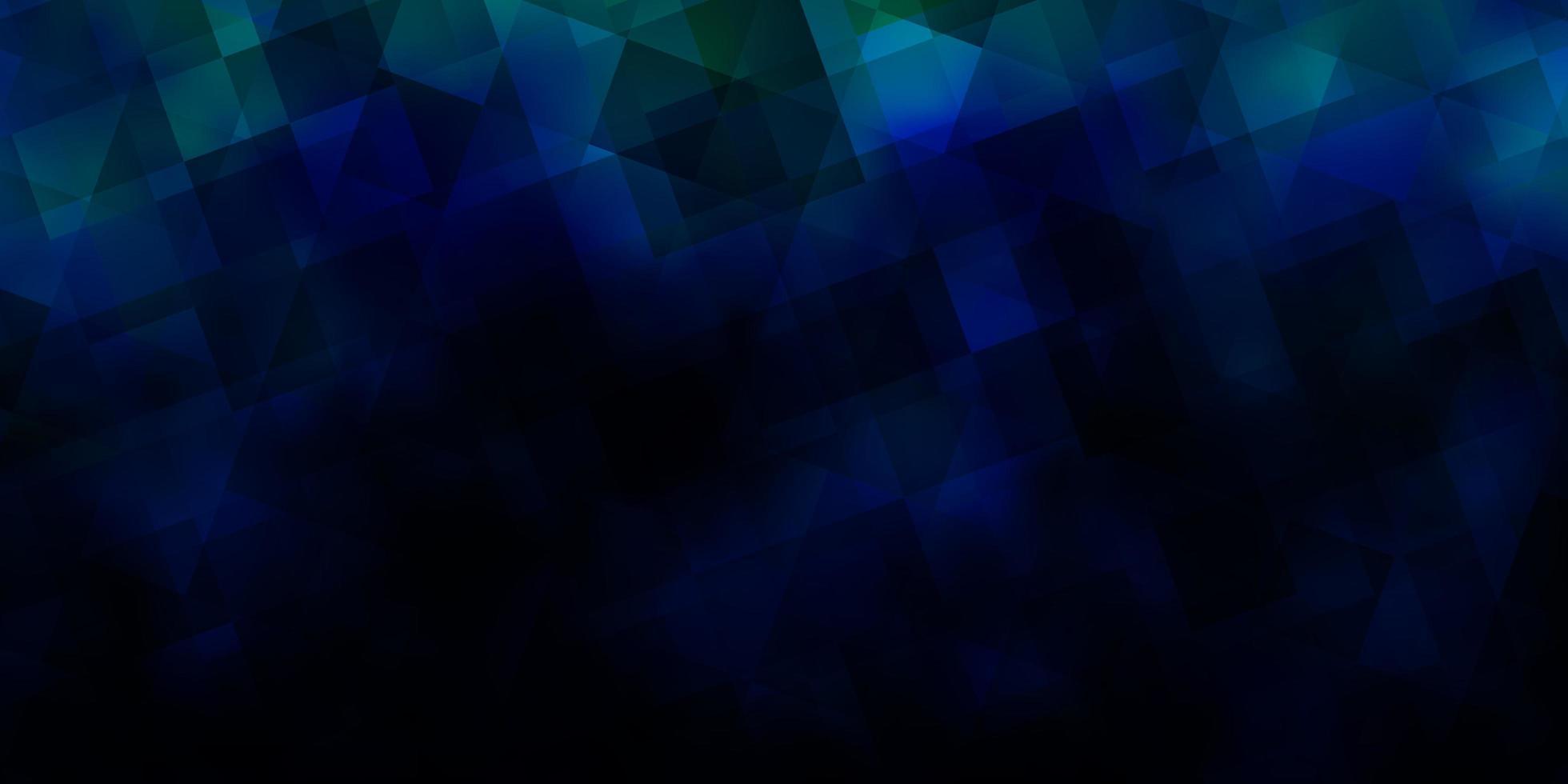 dunkelblaues Vektorlayout mit Linien, Dreiecken. vektor