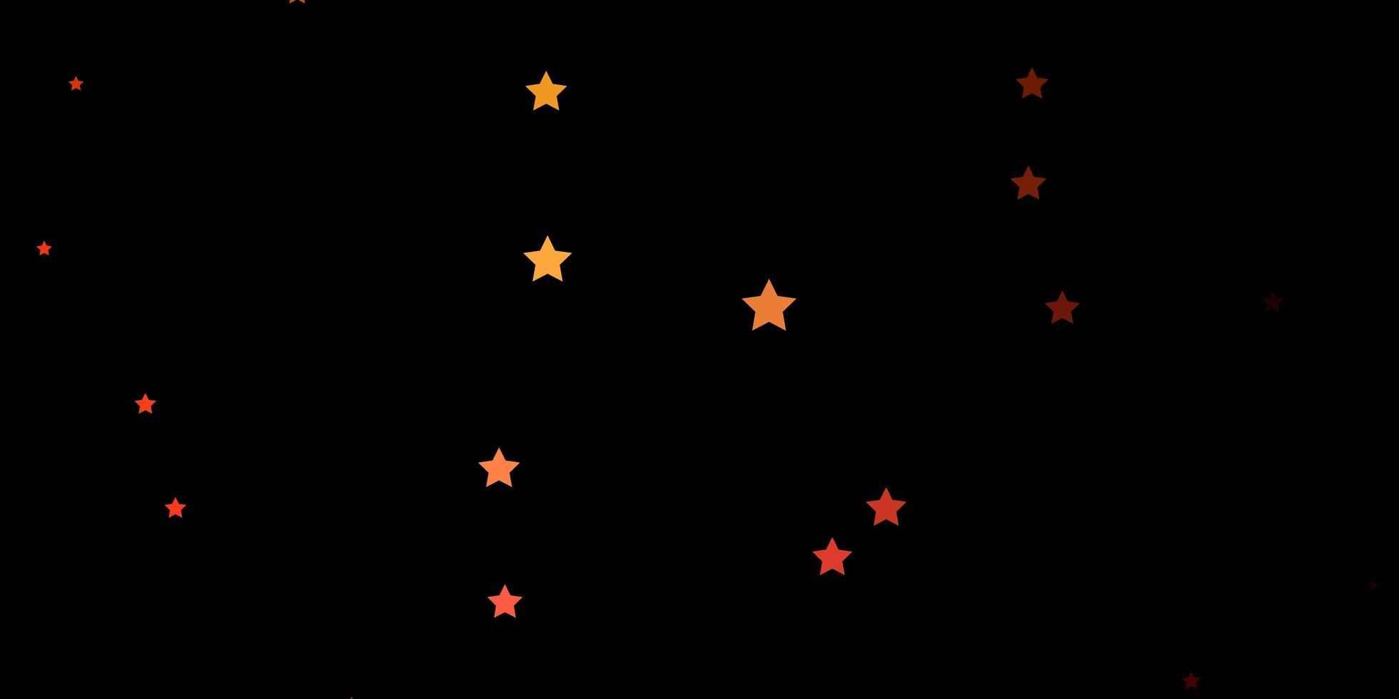 dunkelrote, gelbe Vektorbeschaffenheit mit schönen Sternen. vektor