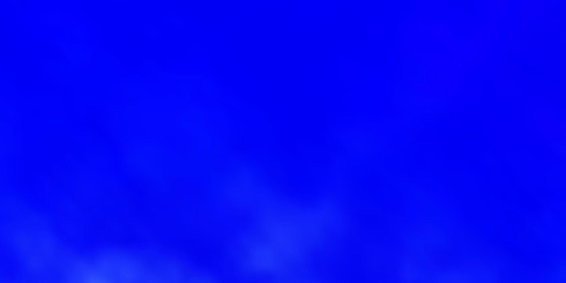 hellblaues Vektorlayout mit Wolkenlandschaft. vektor