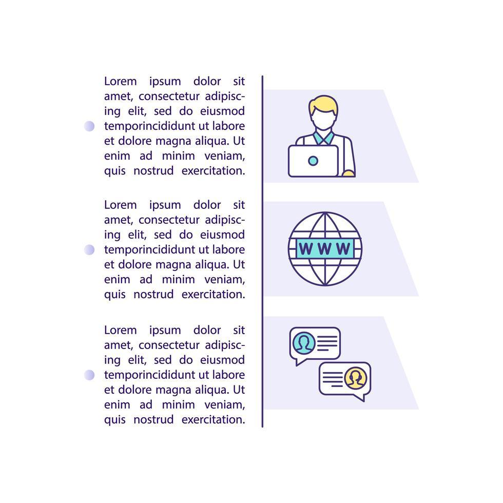 Reisebüro-Konzeptikone mit Text vektor