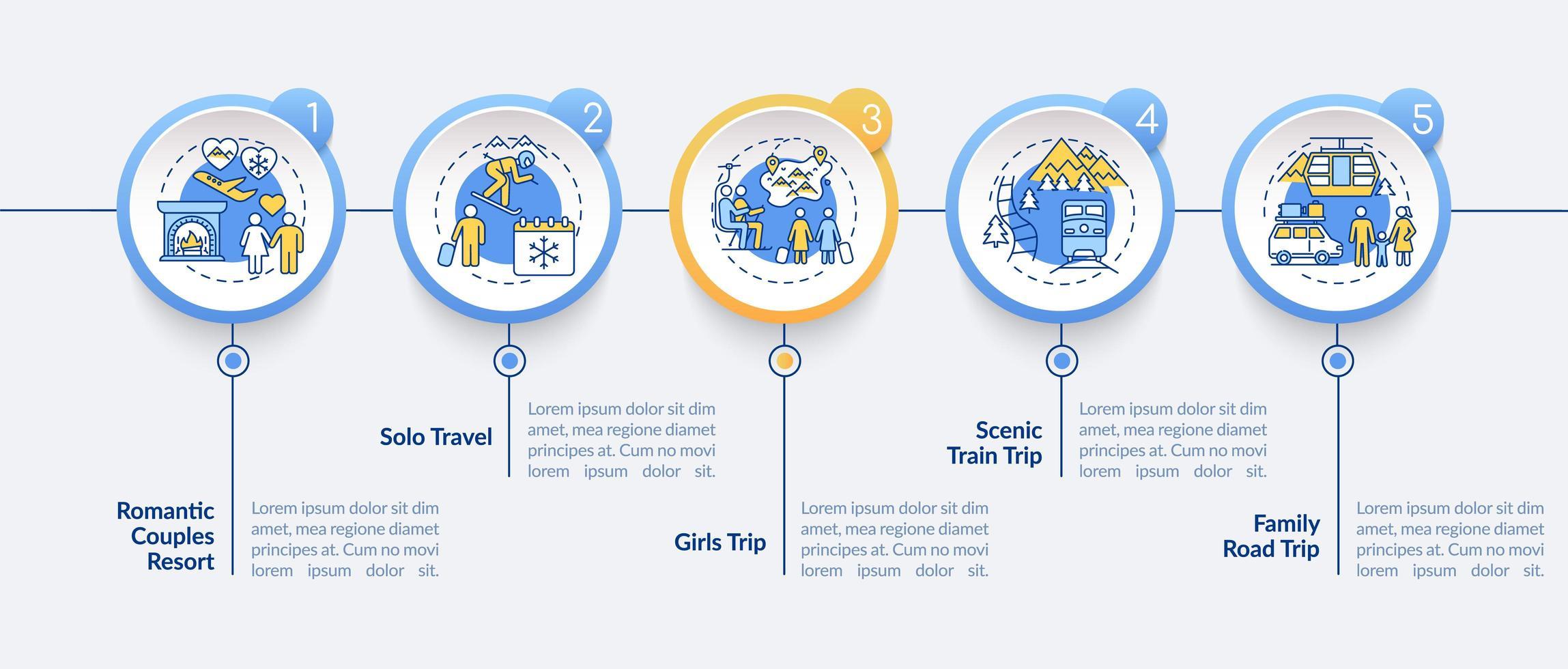 Winterurlaub Ideen Vektor Infografik Vorlage