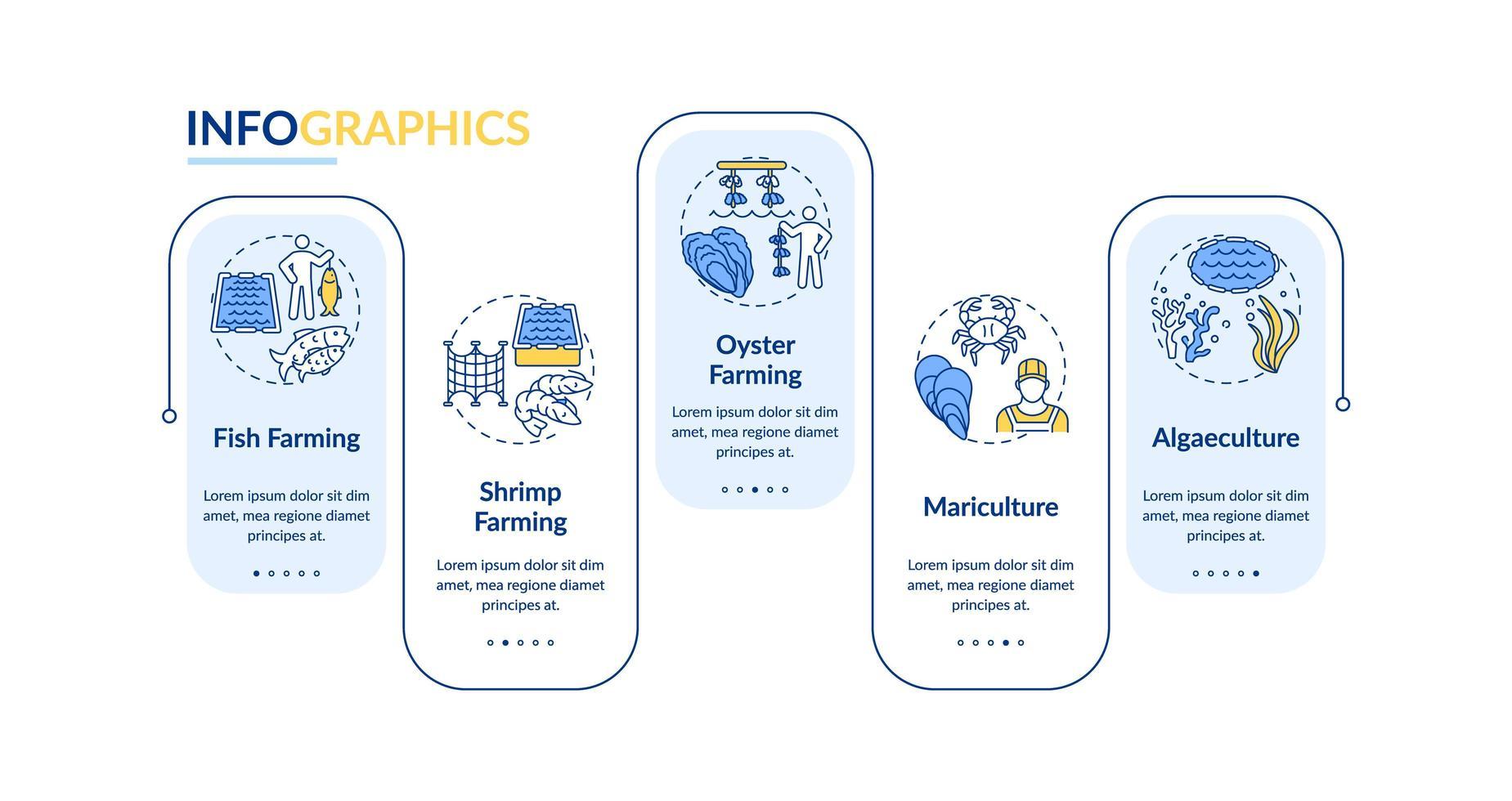 Infografikschablone des Aquakulturvektors vektor